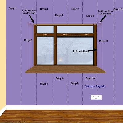 How to wallpaper around a window or door reveal :: Property Decorating