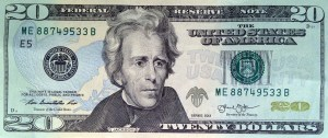 Photo by Bill Sikes | AP Photo  A likeness of Andrew Jackson, seventh President of the United States, adorns the front of $20 bill Friday, April 17, 2015, in Boston. Sen. Jeanne Shaheen, D-NH, filed legislation Tuesday to create a citizens panel to recommend an appropriate woman candidate to be put on the bill.