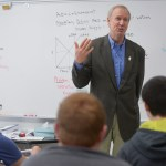 Photo by Mark Black | Daily Herald, AP Photo  In this April 6, 2015 photo, Illinois Gov. Bruce Rauner visits an economics class at Addison Trail High School in Addison, Ill., at a stop to discuss his turnaround agenda during a tour of the state. Rauner has begun putting a finer point on his legislative agenda, telling voters, elected officials and newspaper editorial boards during the tour that his business-friendly plan is vital to improving the state's economy.