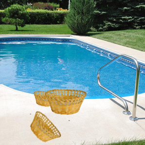 Photo by The Internet | World Wide Web In this 2015 file photo, several baskets are presented by Parkland College's pool. These baskets were weaved by Parkland's newest athletic league, Underwater Basket Weaving.