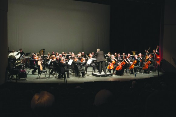 Photo by Cindy Smith | Fine and Applied Arts at Parkland College  Parkland College's orchestra performs during their December concert in 2014.