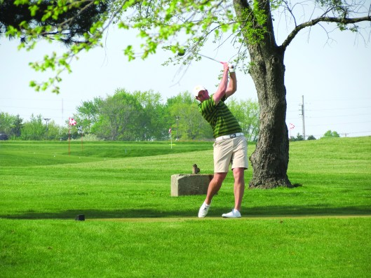 Photo by Glen Berger | Parkland College Parkland Golf Player Nick Berger competes during his sophomore year's regional tournament.