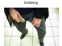 Dribbling after urinating