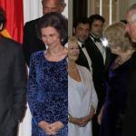 Bardem sin afeitar. Observa sus manos. Un alarde de mala educación, ninguna elegancia y manifiesto desprecio hacia la persona de S.M. La Reina.