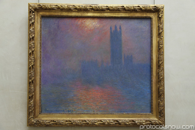 Houses of Parliament Monet at Orsay Museum