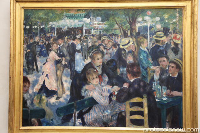 Dance at Le Moulin de la Galette Monet at Orsay Museum