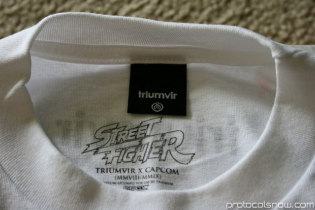 Street Fighter 4 Triumvir Capcom T-shirt tag