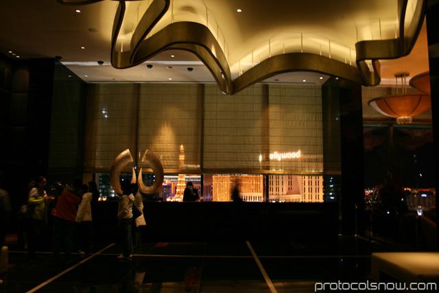Aria CityCenter complex Las Vegas resort casino hotel Mandarin Oriental hotel sky lobby