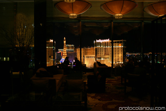 Aria CityCenter complex Las Vegas resort casino hotel Mandarin Oriental hotel sky lobby bar tea