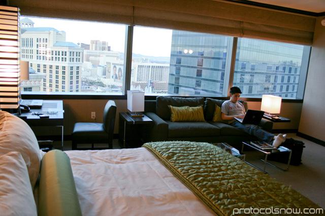 Aria CityCenter complex Las Vegas resort casino hotel Vdara room review