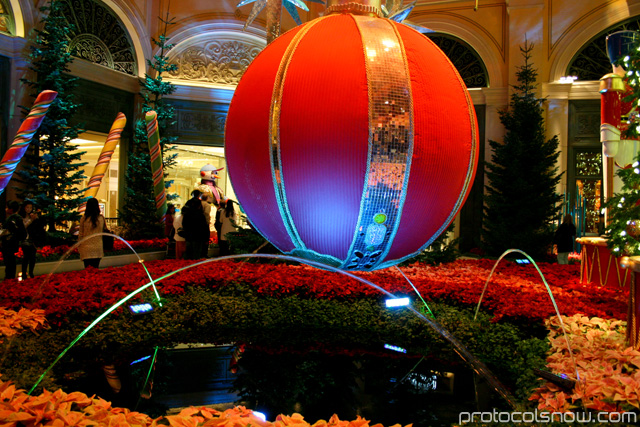 Bellagio conservatory winter resort casino hotel Las Vegas