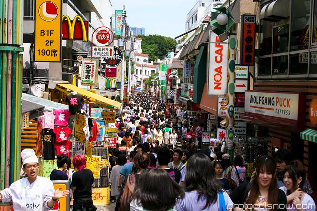 Harajuku Tokyo frenzy rush people crowd
