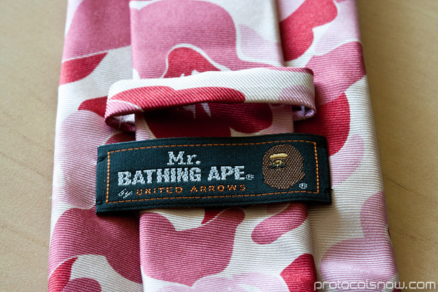 Mr. Bathing Ape Bape United Arrows camo tie necktie collection