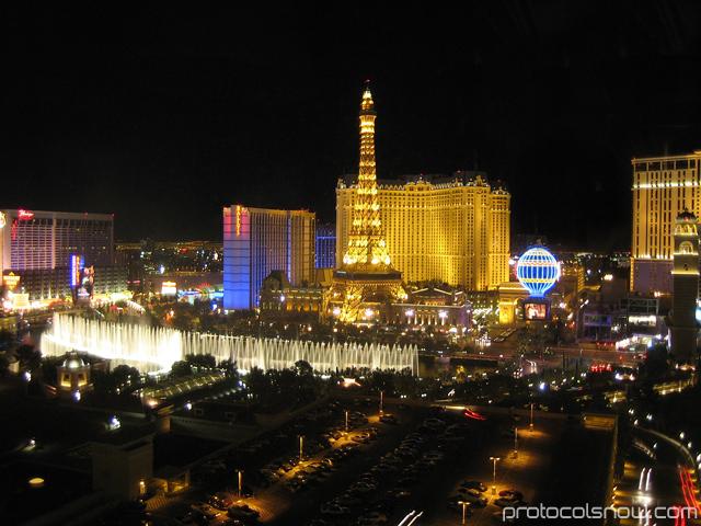 Las Vegas Bellagio fountain Paris