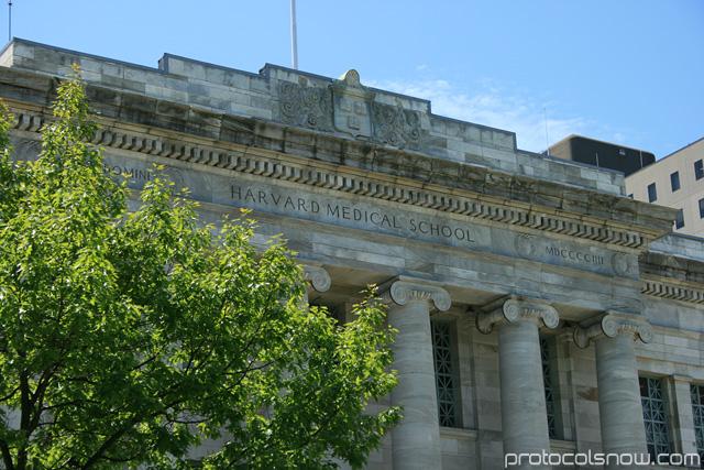Harvard University Medical School campus marble