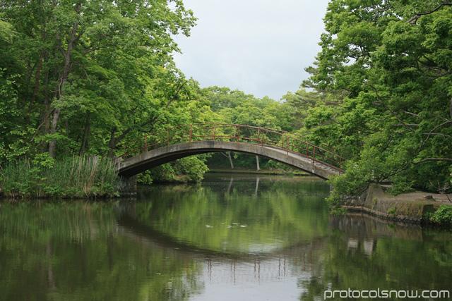 Hokkaido Japan bridge park