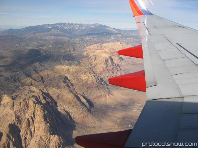 Airplane mountain view