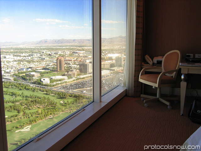 Las Vegas Wynn hotel room windows