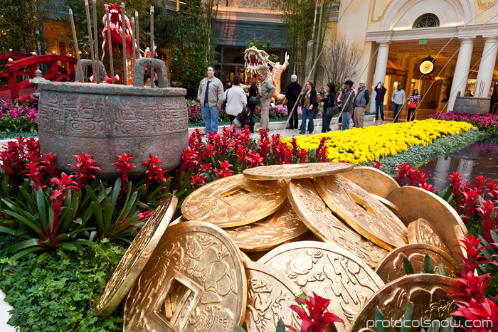 Las Vegas Chinese New Year dragon decorations celebration Bellagio conservatory hotel casino