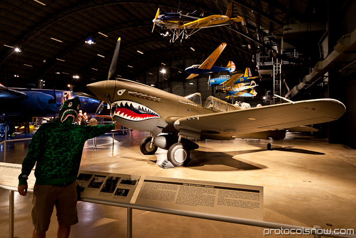 US Air Force National Museum Dayton Ohio shark planes roadtrip
