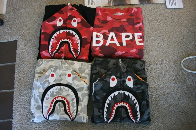 A Bathing Ape Bape shark hoody