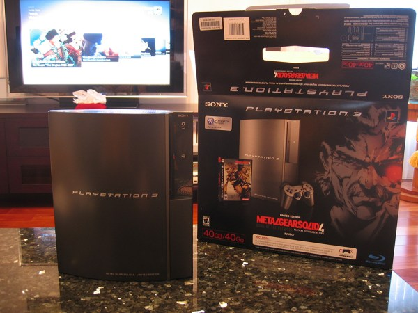 Playstation 3 PS3 Metal Gear Solid 4 gunmetal limited edition