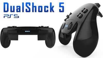 Levitating PS5 Console with Touch Screen Dualshock 5 Controller