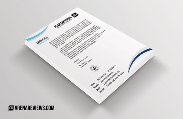 12 Free Letterhead Templates in PSD MS Word and PDF Format – Free Company Letterhead