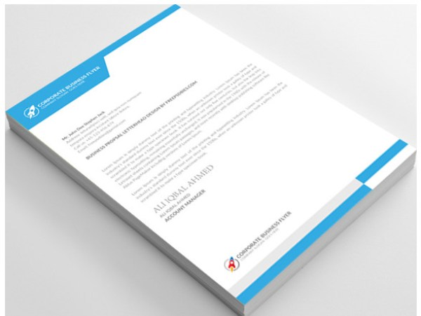12 Free Letterhead Templates in PSD MS Word and PDF Format – Letterhead Format in Word