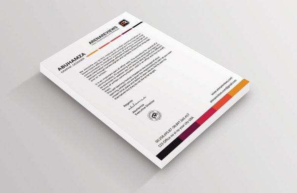 12 Free Letterhead Templates in PSD MS Word and PDF Format – Psd Letterhead Template