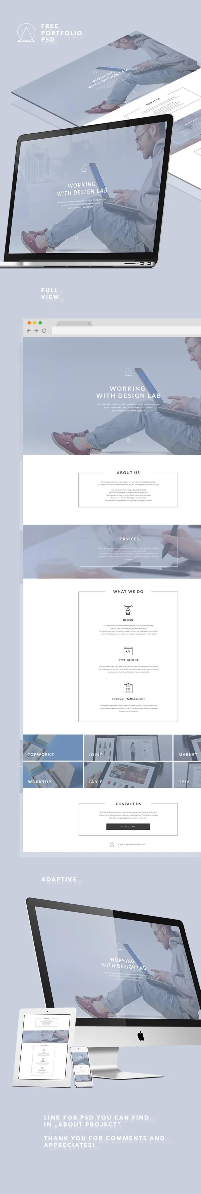Portfolio Landing Page PSD Full