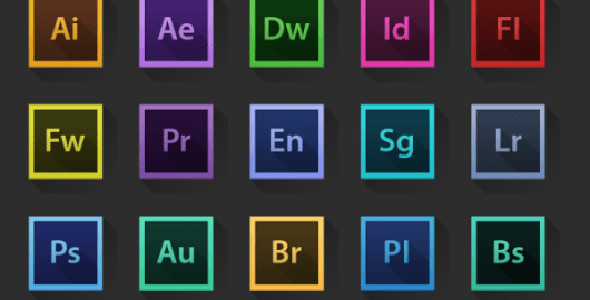 Adobe Creative Suite Icons Set PSD