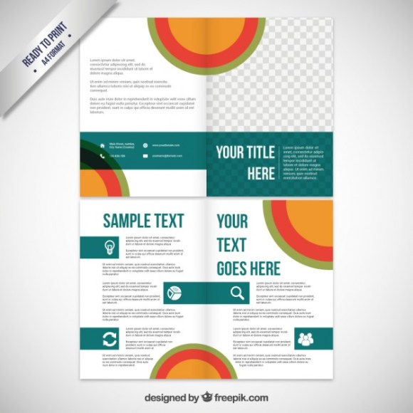 Free Business Vector Brochure Template