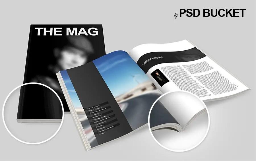 24+ Magazine Mockup Templates Free PSD Download | PSDTemplatesBlog