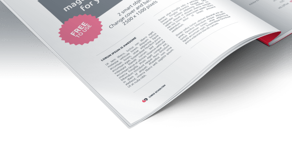 Free Magazine Presentation PSD Mockup