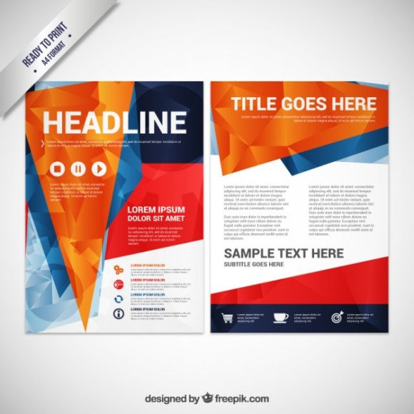 Free Polygonal Brochure Vector Template