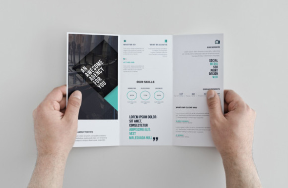 Free Tri-fold Corporate Brochure Template