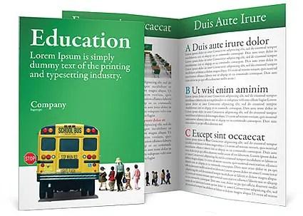 School Bus Brochure Template