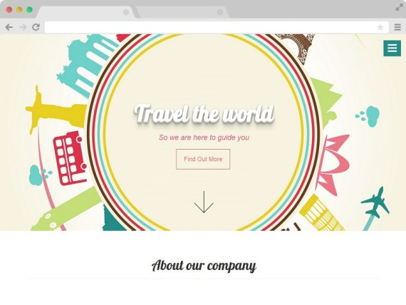 Travelers - A Free Bootstrap One Page Agency Website Template