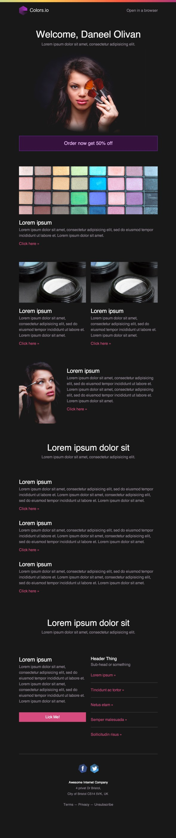 Blush Email Newsletter Template