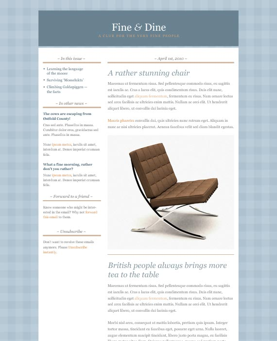 Classic Email Newsletter Template
