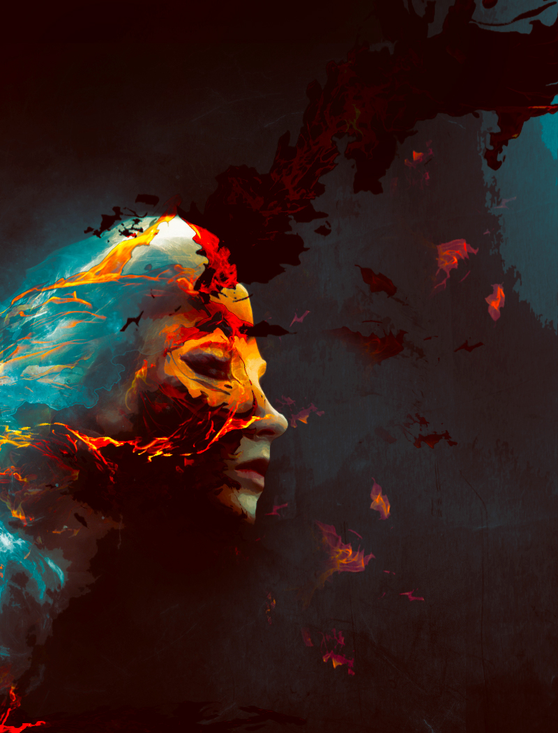 Create Colorful Fiery Portrait in Photoshop