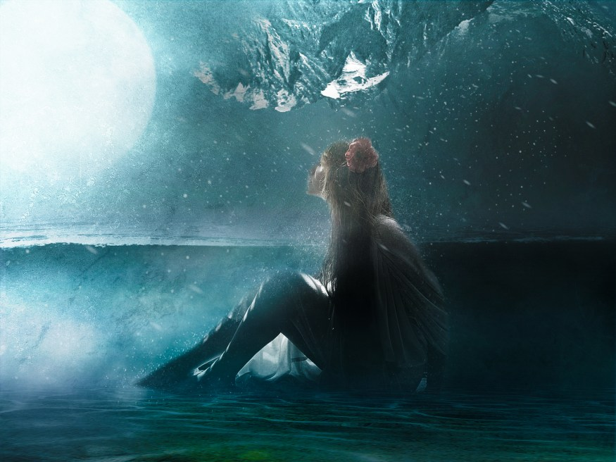 Create Surreal Lady in Water Scene in Photoshop