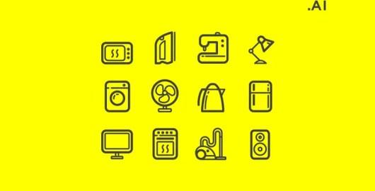 Free Appliances Icons AI Download