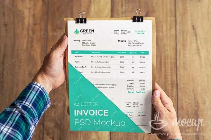 Free Invoice Mockups PSD