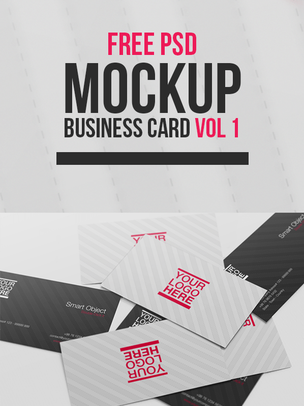 Free PSD Mockup - Business Card Vol 1