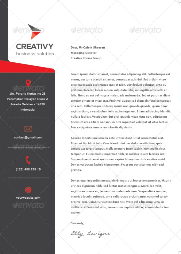 12 Free Letterhead Templates in PSD MS Word and PDF Format – Business Letter Heading Template