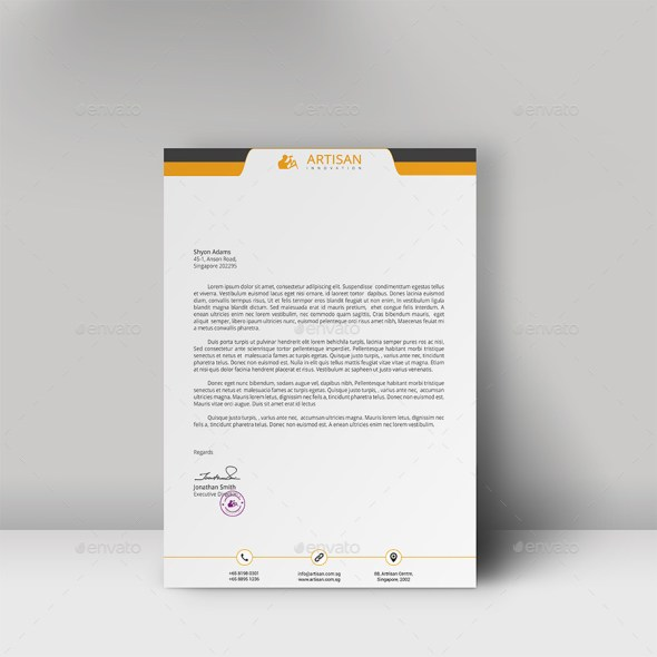 12 Free Letterhead Templates in PSD MS Word and PDF Format – Professional Letterhead