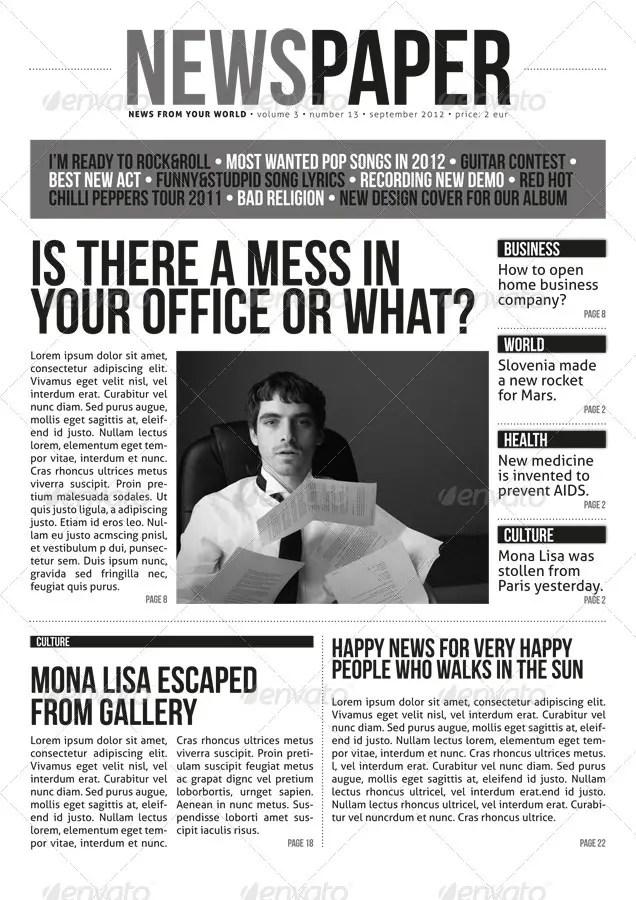 Indesign Modern Newspaper Magazine Template A4