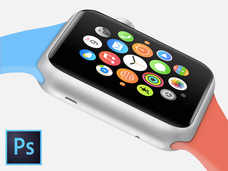Free Apple Watch Sport Edition PSD